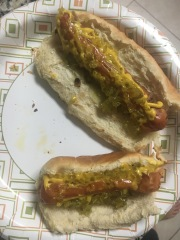 Vegan hot dogs!